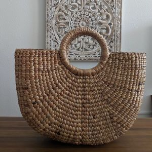 Basket weave bag. Handmade in Thailand.